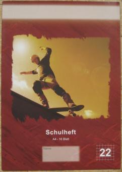Schulheft Skateboarder A4 kariert