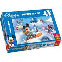 Puzzle - Micky Mouse auf Snowboard