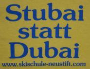 Stubai statt Dubai gelb S